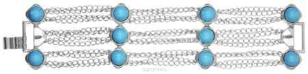 Купить Браслет Art-Silver, цвет: серебристый, голубой. MS01554N-IR-A-1203