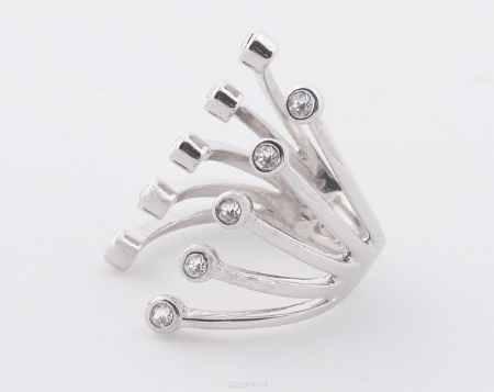 Купить Jenavi, Коллекция Триада, Пурина (Кольцо), цвет - серебряный, белый, размер - 20