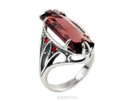 Купить Кольцо Jenavi Коллекция Готика Неф, цвет: серебряный, красный. b7713016. Размер 16