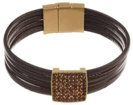 Купить Браслет Taya, цвет: золотистый, коричневый. T-B-10580