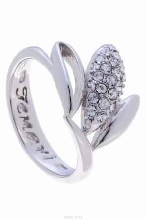Купить Кольцо Jenavi Коллекция Примавера Фель, цвет: серебряный, белый. k014f000. Размер 18