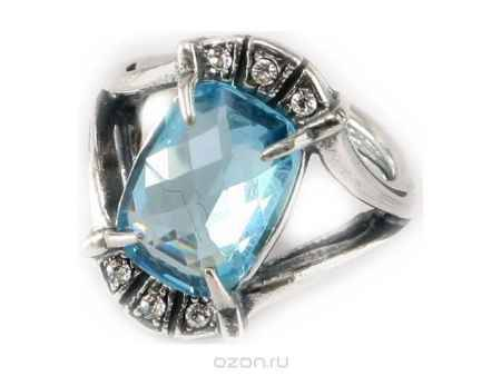 Купить Кольцо Jenavi Коллекция Погода Гололед, цвет: серебряный, голубой. e5093040. Размер 19