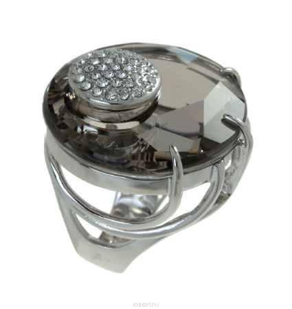 Купить Кольцо Jenavi Коллекция Bubbles Ятру, цвет: серебряный, серый. j704f066. Размер 18