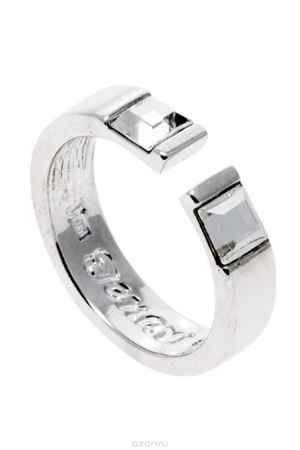 Купить Кольцо Jenavi Коллекция Quadro Тайвутус, цвет: серебряный, белый. r837f000. Размер 16