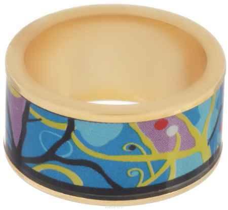 Купить Кольцо Art-Silver, цвет: золотой, черный, голубой. ФК109-320. Размер 17,5
