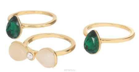Купить Кольцо Art-Silver, цвет: золотистый, 3 шт. 066669-803-909. Размер 16,5
