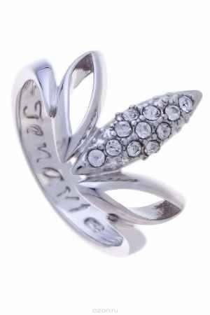 Купить Кольцо Jenavi Коллекция Примавера Аевин, цвет: серебряный, белый. k013f000. Размер 18
