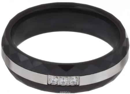Купить Кольцо Art-Silver, цвет: антрацитовый. КЧ2077-733. Размер 18