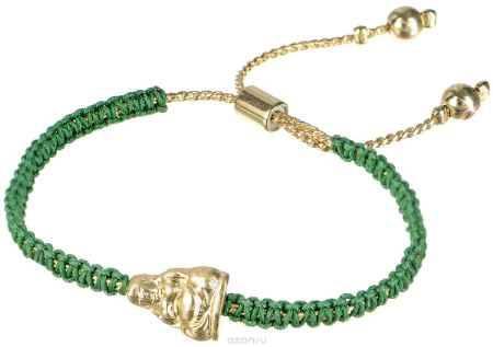 Купить Браслет Taya, цвет: золотистый, зеленый. T-B-4561