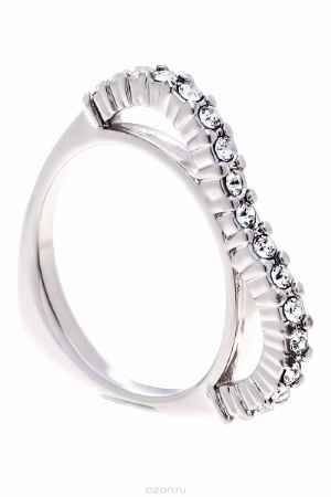 Купить Кольцо Jenavi Коллекция Teona Меави, цвет: серебряный, белый. f420f000. Размер 16