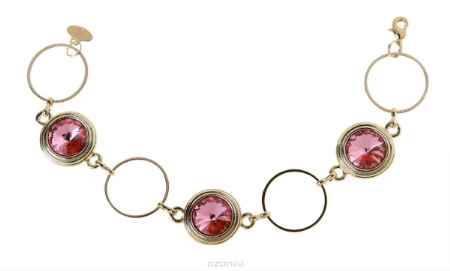 Купить Браслет Jenavi Коллекция Радиус Эмбаси, цвет: золотой, розовый. j171p412. Размер 15,5