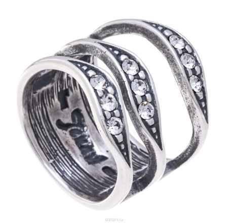 Купить Jenavi, Коллекция Двойная игра, Гринго (Кольцо), цвет - серебро, белый, размер 16