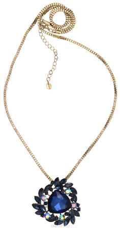 Купить Кулон-брошь Taya, цвет: золотистый, синий. T-B-10931