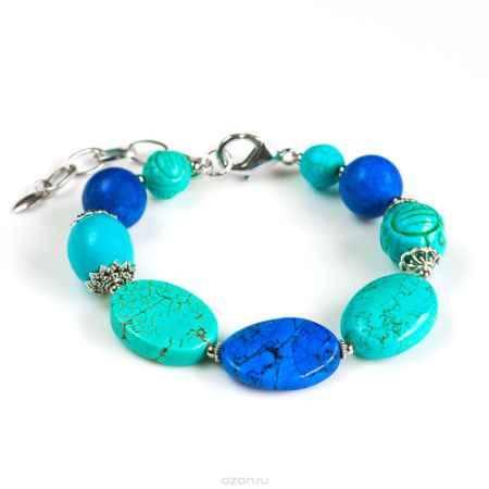 Купить Браслет Selena Роман с камнем Персия, цвет: бирюзовый, синий. 40058230