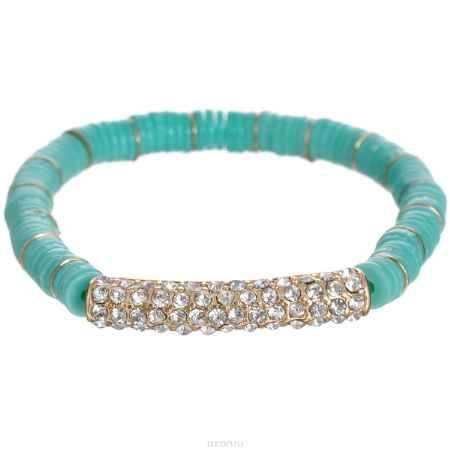 Купить Браслет Taya, цвет: золотистый, мятный. T-B-5935