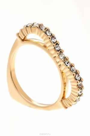 Купить Кольцо Jenavi Коллекция Teona Меави, цвет: золотой, белый. f420p000. Размер 16