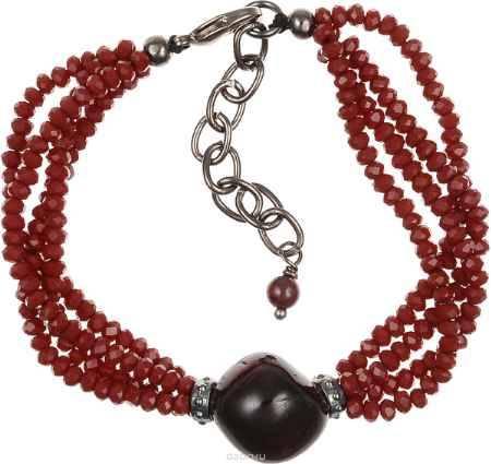 Купить Браслет Polina Selezneva, цвет: бордовый. 002-2826