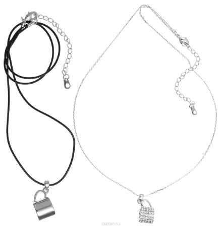 Купить Кулон Art-Silver, цвет: серебряный, черный, 2 шт. 134341-1-962