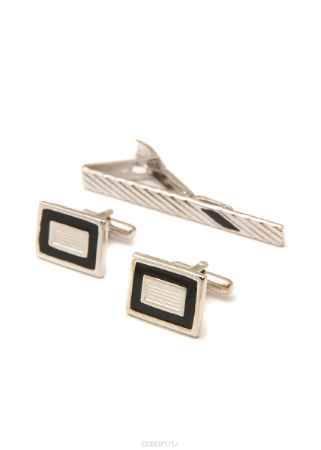 Купить Комплект мужской: зажим для галстука и запонки Mitya Veselkov. ZAPZDG-03