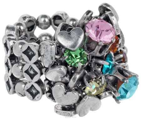 Купить Кольцо Avgad, цвет: серебристый, зеленый, розовый. EA178JW272