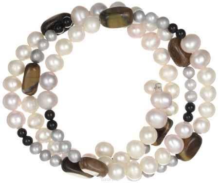 Купить Браслет Art-Silver, цвет: перламутровый, коричневый. B0602-1-338