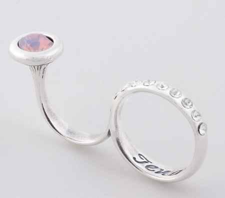 Купить Jenavi, Коллекция Триада, Тридеви (Кольцо), цвет - серебро, белый, размер - 19