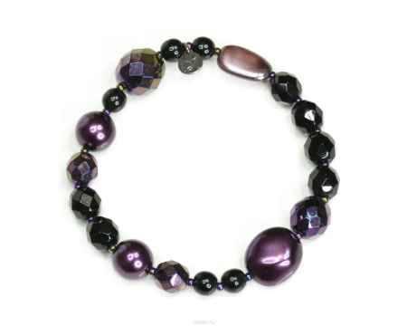 Купить Браслет Bohemia Style, цвет: черный, фиолетовый. 1650 6076 00