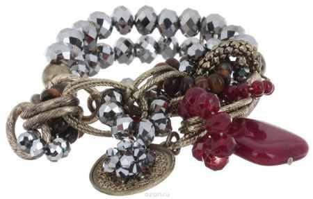 Купить Браслет Avgad, цвет: бронзовый, серебристый, бордовый. BR77KL168