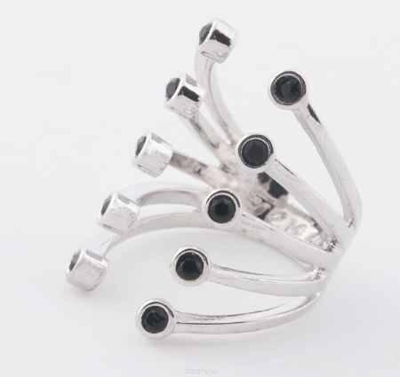 Купить Jenavi, Коллекция Триада, Пурина (Кольцо), цвет - серебряный, черный, размер - 16
