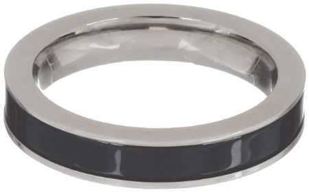 Купить Кольцо Art-Silver, цвет: серебристый, черный. CR056-1-675. Размер 17,5