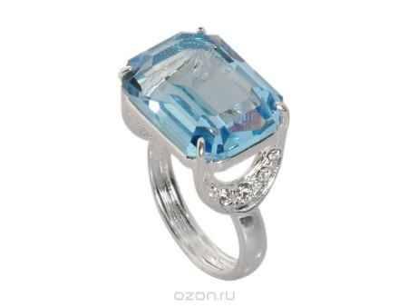 Купить Кольцо Jenavi Коллекция Погода Шквал, цвет: серебряный, голубой. e514f040. Размер 17