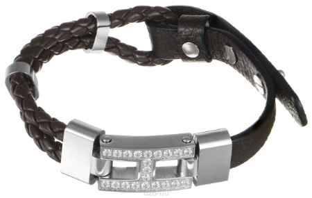 Купить Браслет Art-Silver, цвет: серебристый, темно-коричневый. B59-1343