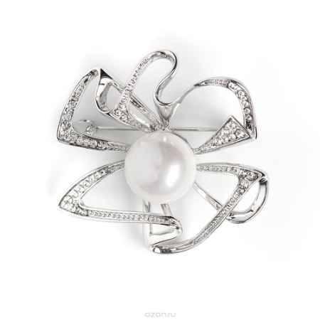 Купить Брошь жен. Selena Селена Street Fashion, цвет: белый, серебристый. 30026440
