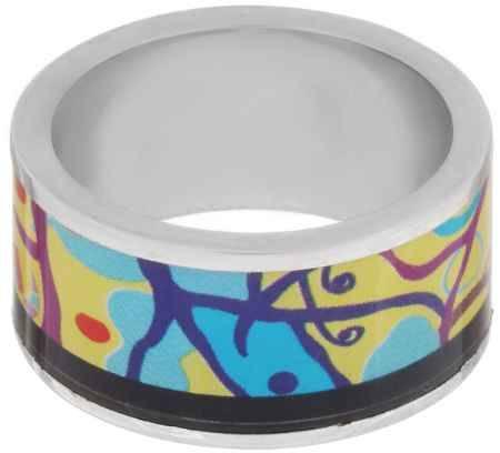 Купить Кольцо Art-Silver, цвет: серебристый, мультиколор. ФК111-1-320. Размер 18,5