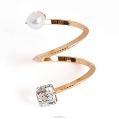 Купить Кольцо жен. Selena Street Fashion, цвет: белый, золотистый, прозрачный. 60025340
