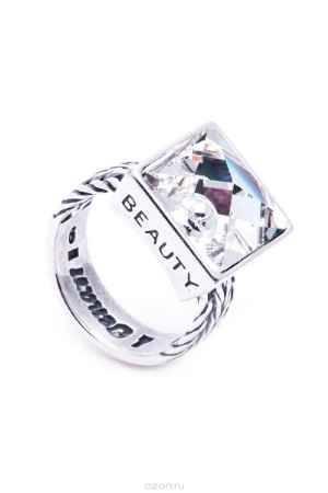 Купить Кольцо Jenavi Коллекция Relax Релакс, цвет: серебряный, белый. r9743000. Размер 17