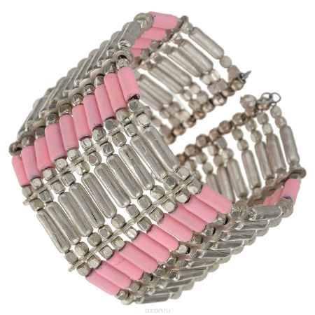 Купить Браслет Ethnica, цвет: серебряный, розовый. 106045