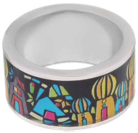Купить Кольцо Art-Silver, цвет: серебристый, черный, желтый. ФК106-1-320. Размер 18,5