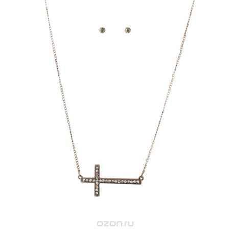 Купить Комплект украшений Taya: подвеска, серьги, цвет: коричневый. T-B-4551