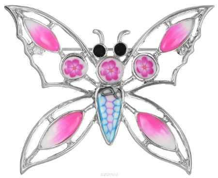 Купить Брошь Happy Charms Family, цвет: серебристый, розовый. NOAU0256
