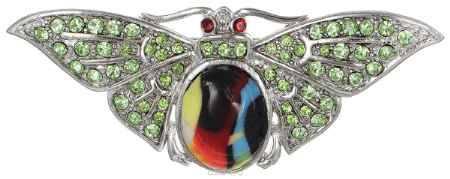 Купить Брошь Happy Charms Family, цвет: серебристый, зеленый. NOAU0165