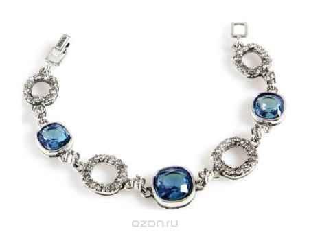 Купить Браслет Jenavi Коллекция Милан Аустралис, цвет: серебряный, голубой. b1363434. Размер 18,5