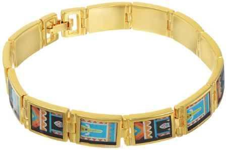 Купить Браслет Art-Silver, цвет: золотой, мультиколор. ФБ340-1-490
