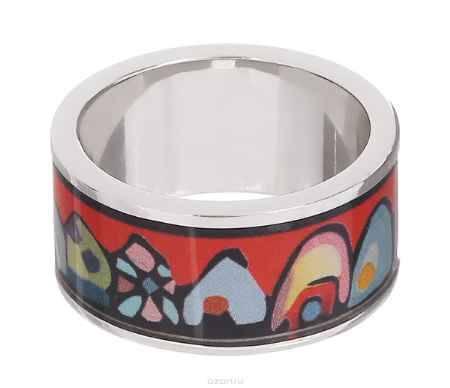 Купить Кольцо Art-Silver, цвет: серебристый, красный, мультиколор. ФК107-1-320. Размер 18,5