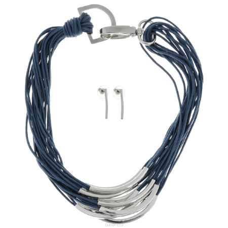 Купить Набор Taya: колье, серьги, цвет: темно-синий. T-B-5895