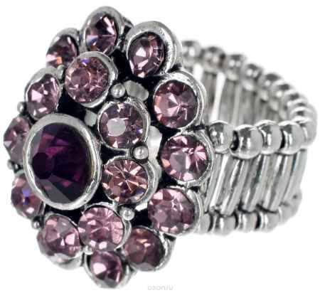 Купить Кольцо Taya, цвет: розовый, серебристый. T-B-7324