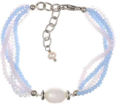 Купить Браслет Polina Selezneva, цвет: голубой, розовый, белый. 002-2578