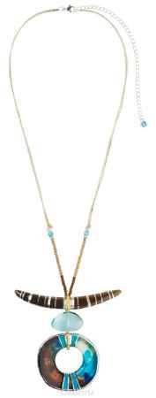 Купить Кулон Lalo Treasures ROW, цвет: голубой, коричневый. P4505-2