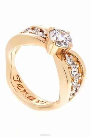Купить Кольцо Jenavi Коллекция Teona Яльба, цвет: золотой, белый. f425q0a0. Размер 17