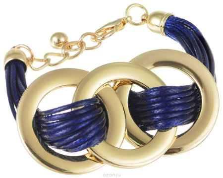 Купить Браслет Art-Silver, цвет: золотистый, синий. 141114-11Blue-378